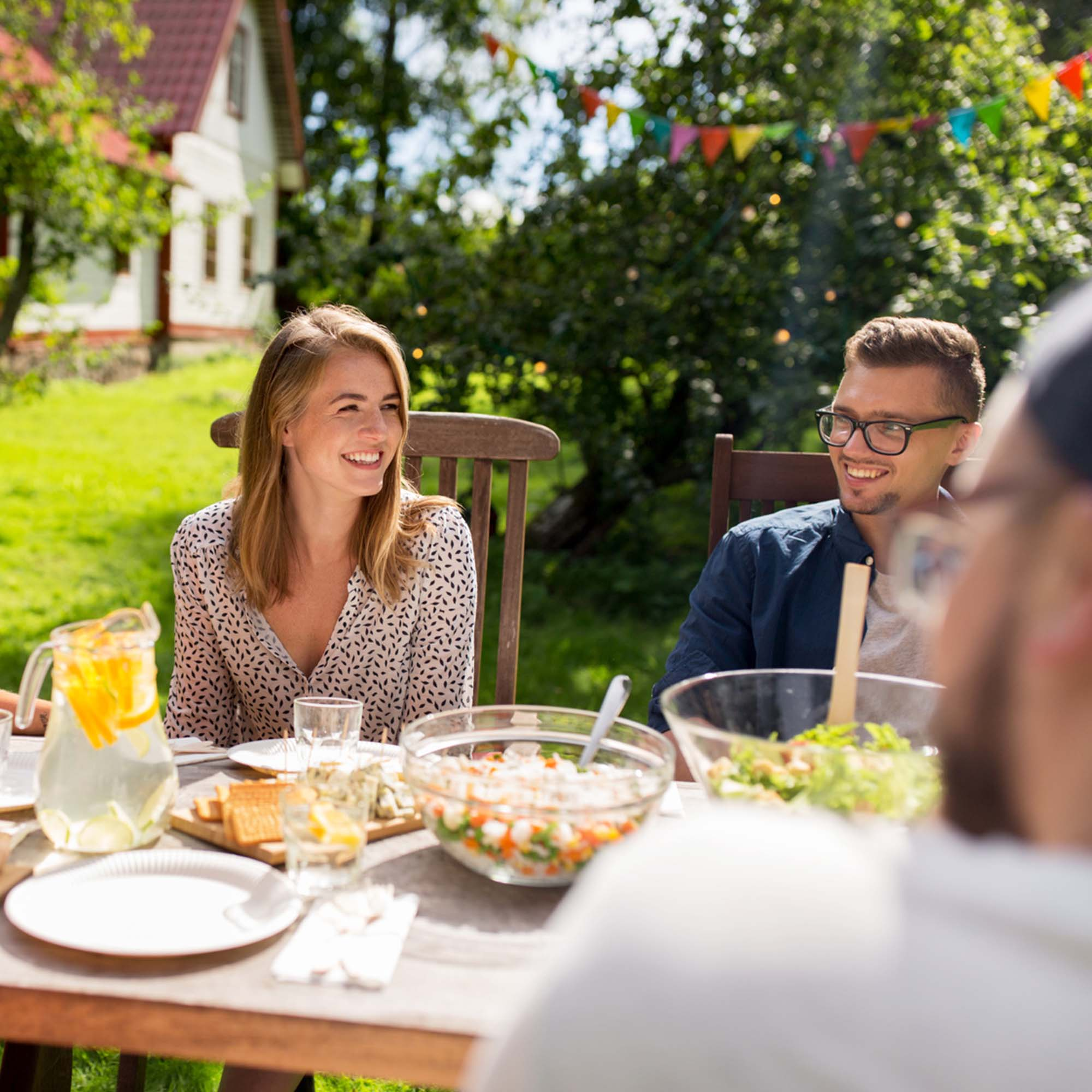 Essen im Garten
